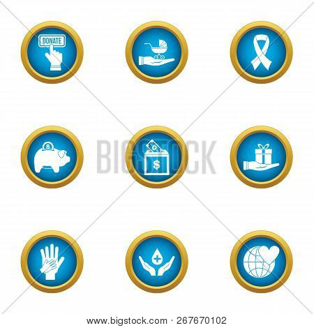 Frugal Icons Set. Flat Set Of 9 Frugal Icons For Web Isolated On White Background