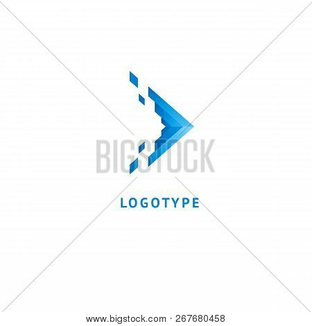 Arrow Icon. Vector Flat Style Illustration Abstract Business Logo Template. Logo Concept Of Internet