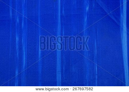 Blue Striped Plastic Background From Old Cover