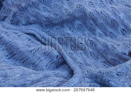 Gray Dark Texture Fabric Of Crumpled Fabric On Clothes