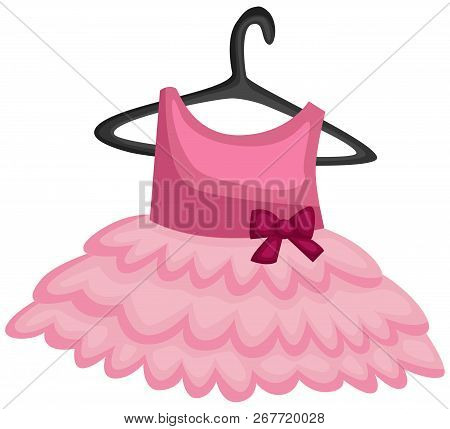A Vector Of A Ballerina Uniform Hanging