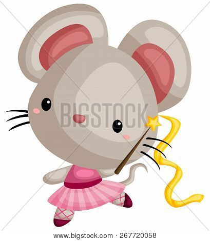 A Vector Of A Mouse Doing Ballet