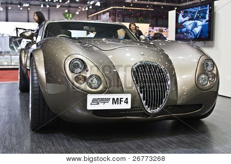 GENEVA - MARCH 7: Wiesmann MF4 GT on display at the 79th International Motor Show Palexpo-Geneva on March 7, 2009.