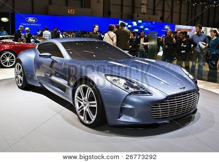 GENEVA - MARCH 7: Aston Martin stand on display at the 79th International Motor Show Palexpo-Geneva on March 7, 2009.
