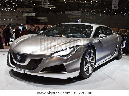 Genf, März 7: Peugeot rc4 Konzept Hybrid-Auto auf dem Display an 79th Internationale Automobilausstellung Palexp