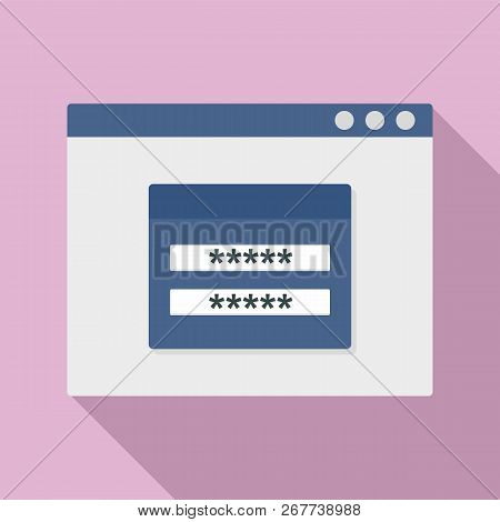 Login To Account Icon. Flat Illustration Of Login To Account Icon For Web Design