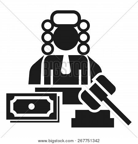 Judge Bribery Icon. Simple Illustration Of Judge Bribery Icon For Web Design Isolated On White Backg
