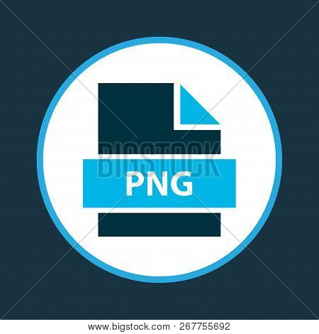 File png icon colored symbol. Premium quality isolated network graphics element in trendy style. poster