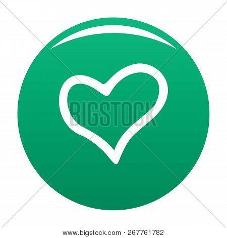 Faithful Heart Icon. Simple Illustration Of Faithful Heart Icon For Any Design Green