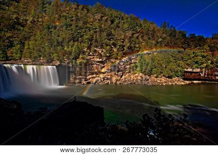 Moonbow At Cumberland Falls State Park In Kentucky