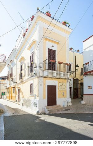 Massafra, Apulia, Italy - May 31, 2017 - A Traditional Pension In The Streets Of Massafra