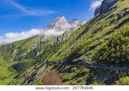 Road D918  Col Aubisque, French Pyrenees. From Eaux-bonnes To Gourette
