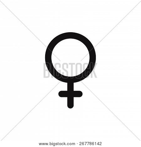 Female Icon Isolated On White Background. Female Icon In Trendy Design Style. Female Vector Icon Mod