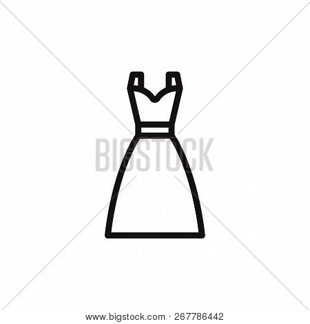 Dress Icon Isolated On White Background. Dress Icon In Trendy Design Style. Dress Vector Icon Modern