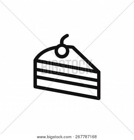Cake Piece Icon Isolated On White Background. Cake Piece Icon In Trendy Design Style. Cake Piece Vec