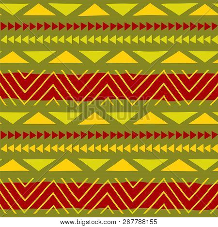 Ethnic Pattern. Tribal Art. African Pattern. Vector Background.