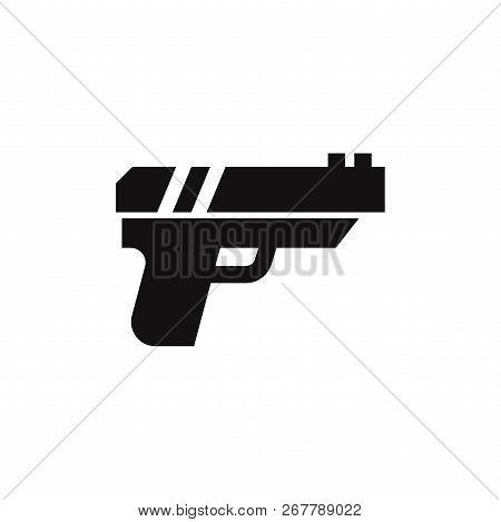 Gun Icon Isolated On White Background. Gun Icon In Trendy Design Style. Gun Vector Icon Modern And S