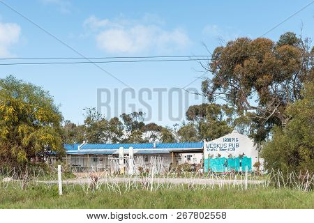Yzerfontein, South Africa, August 20, 2018: The Iron Pig Weskus Pub Near Yzerfontein On The Atlantic