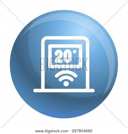 Wifi Temperature Control Icon. Outline Wifi Temperature Control Vector Icon For Web Design Isolated