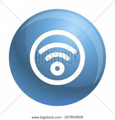 Circle Wifi Icon. Outline Circle Wifi Vector Icon For Web Design Isolated On White Background