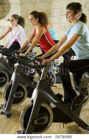 The Group Of Exercising Women