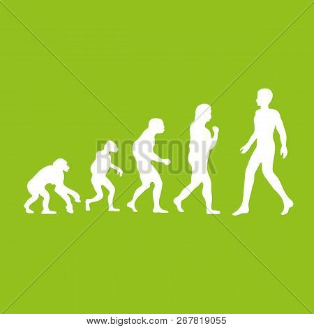 Darwin Evolution Of Human. Web Icon. Vector Illustration.