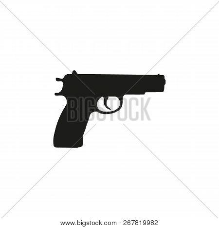 Pistol Gun Icon Vector Illustration On The White Background.