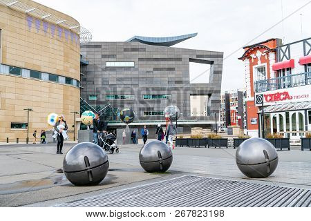 Wellington, New Zealand - October 1 2018; Tourists And Three  Other Worlds Sculpture By Ruth Watson