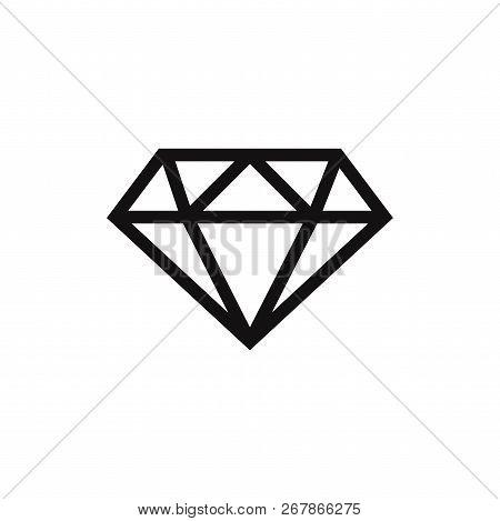 Diamond Icon Isolated On White Background. Diamond Icon In Trendy Design Style. Diamond Vector Icon