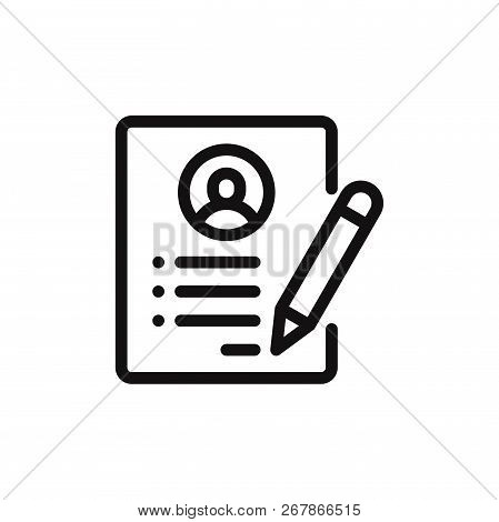 Resume Icon Isolated On White Background. Resume Icon In Trendy Design Style. Resume Vector Icon Mod