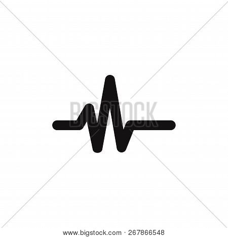 Pulse Line Icon Isolated On White Background. Pulse Line Icon In Trendy Design Style. Pulse Line Vec