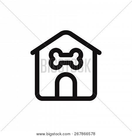Dog House Icon Isolated On White Background. Dog House Icon In Trendy Design Style. Dog House Vector