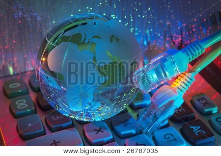technology earth globe against fiber optic background more in my portfolio