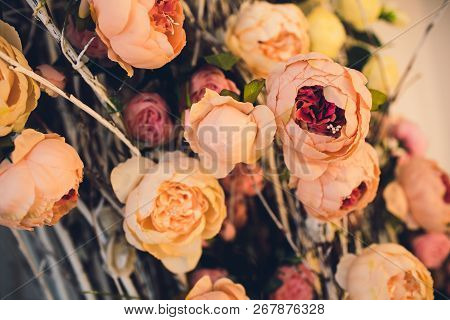 The Concept Of Wedding Decor Wedding Day, Ceremony Place For The Bride And Groom, Decor, Flowers, Fl