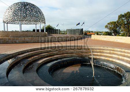Geraldton, Australia - August 21, 2018: Hmas Sydney Ii Memorial Initiated By The Rotary Club Of Gera