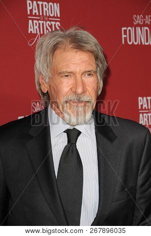 Harrison Ford at the SAG-AFTRA Foundation's 3rd Annual Patron Of The Artists Awards held at the Wallis Annenberg Center in Beverly Hills, USA on November 8, 2018.