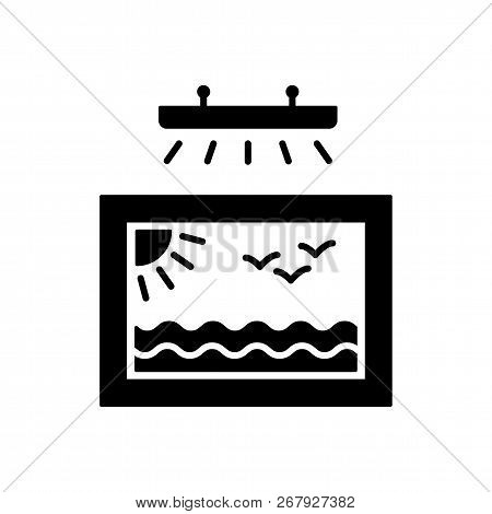 Vector Illustration Of Picture & Display Lighting. Flat Icon Of Art Light. Home & Office Light Fixtu