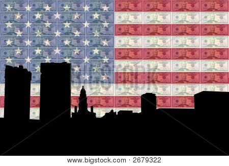 Fort Worth With Flag And Cash