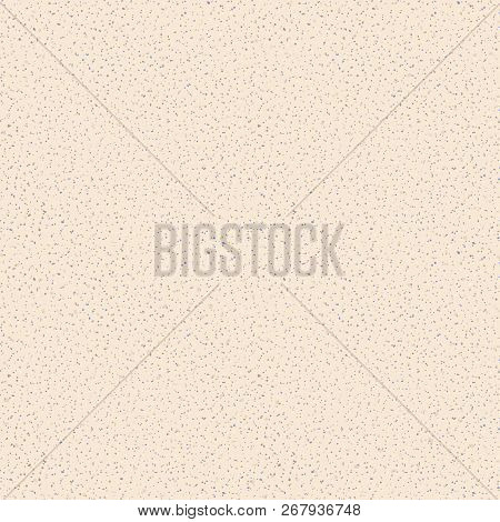 Vector Seamless Texture Of Sand. Grainy Background With Small Particles, Beige, Brown And Gray Dots.