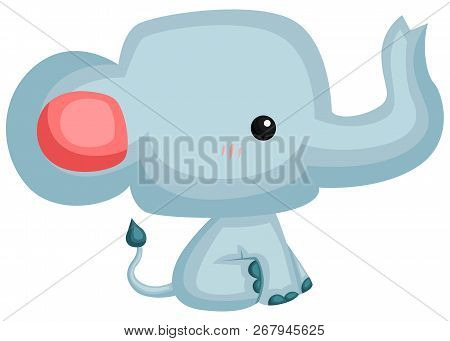 A Vector Of A Cute And Adorable Elephant