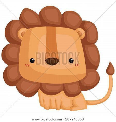 A Vector Of A Cute And Adorable Lion