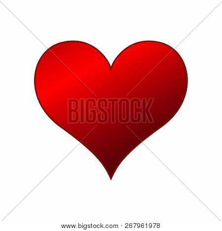 Heart Icon Isolated On White Background. Heart Love,  Heart Icon Modern Symbol For Graphic And Web D