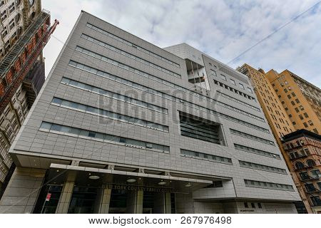 New York City - October 14, 2018: New York County Family Court Building In Manhattan, New York.