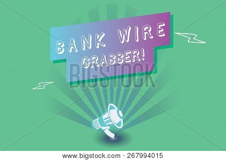 Conceptual Hand Writing Showing Bank Wire Transfer. Business Photo Showcasing Electronic Transfer Of