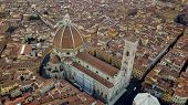 Aerial drone footage video - panoramic view of Florence poster