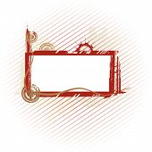 Vector abstract industrial frame with lines #2 poster