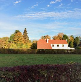 Belgian Farmhouse. A Traditional Belgian Style Architecture Farmhouse In Wallonia (wallonie), In The