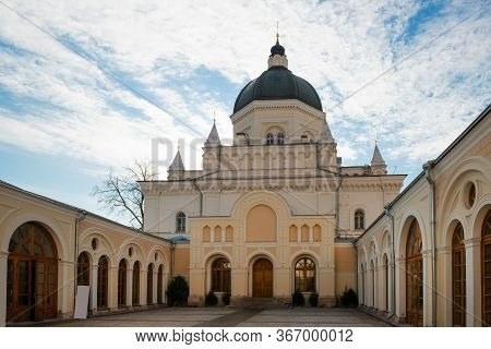 Moscow, Russia - February 22, 2020: The Cathedral  Of The Beheading Head Of John The Baptist At The