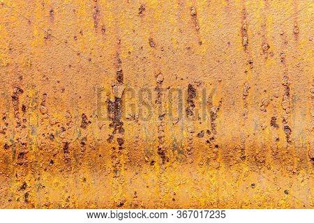 Rusty Metal Texture. Oxidized Metal Background. Old Metal Iron Panel.