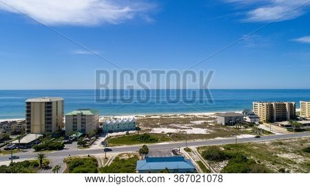 Aerial View Of Perdido Key Beach In Pensacola, Florida